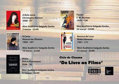Cartaz Ciclo de Cinema Do Livro ao Filme
